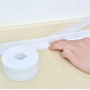 Image 2 - Nova fita auto adesiva banheira banheiro chuveiro wc cozinha parede selada à prova dlad água e mofo fita lad venda