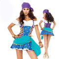 free shipping Halloween cosplay role playing the uniform temptation ds costume pirate