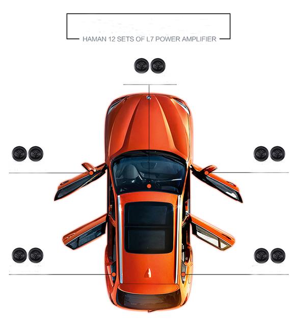 Car Audio Center Speaker 3.5 Inch 3 Inch Midrange Speaker Three-way Speaker Car QP Center Speaker Black