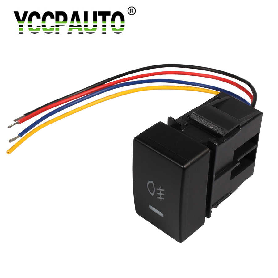 YCCPAUTO 1Pcs Auto Car Fog Light Switch For for Honda Civic Accord 5 Pin Fog lights Control Switch On-Off Button with Cable