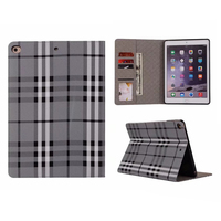Luxury Scotland Style For IPad Air Pu Leather Flip Stand Case For IPad Air 2 Fashion