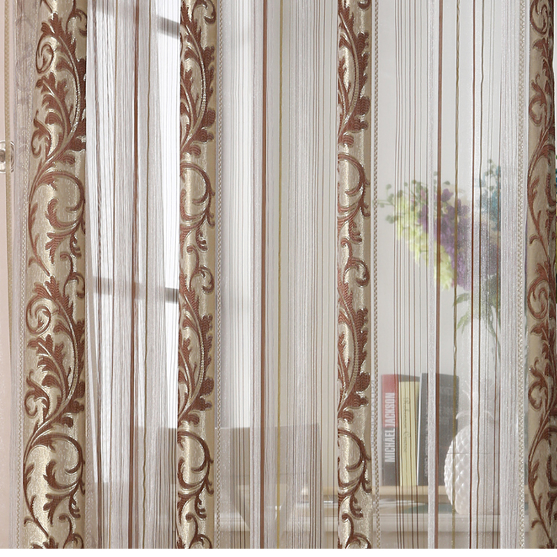 Luxury Flower Curtains For Living Room Bedroom Kitchen