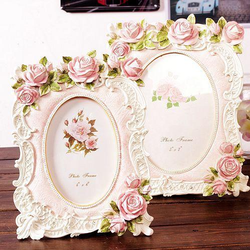 Résine cadre résine artisanat résine ornements nouvelles roses roses surdimensionnées