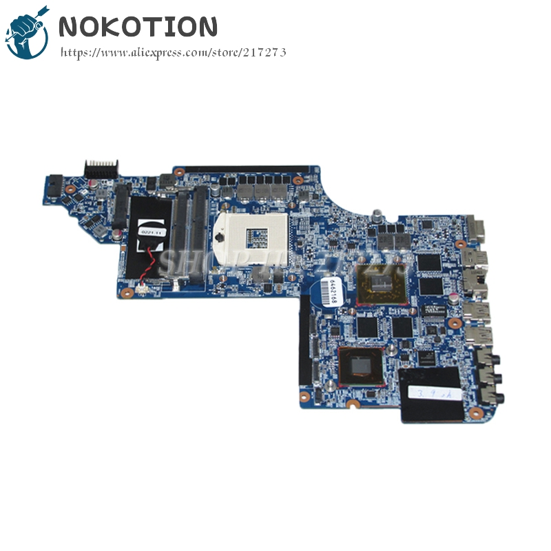 NOKOTION 659095-001 MAIN BOARD For Hp DV7-6000 Laptop Motherboard HM65 DDR3 HD6770M Video card nokotion zs051 la a996p 764262 501 764262 001 motherboard for hp 15 g series laptop main board cpu ddr3