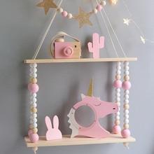 Kids Room Decoration Wooden Shelf For Kids Room Wood hooks Wall Wood Shelf For Children