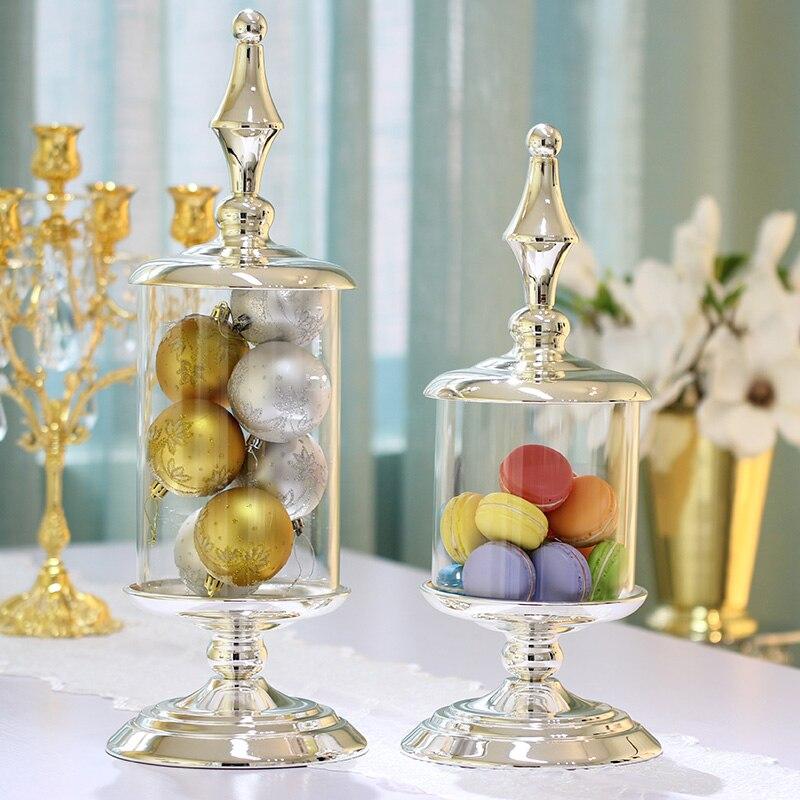 Конфеты баночка с крышкой прозрачная банка из металла крышкой банки ваза для конфет бутылки и баночки для хранения свадебные украшения дом