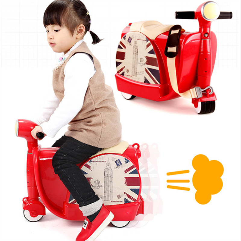 2017 Rushed Top Fashion Bicicleta Infantil Children's Suitcase Sit Ride On Toy Korah Baby Luggage Box Children Motorcycle Cart 2017 real sale bicicleta infantil kids scooter bikes four flash wheels breaststroke baby swing bike ride on toy more safety