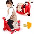 2017 Rushed Top Moda Bicicleta Infantil de Los Niños Maleta Sentarse Ride On Toy Korah Bebé Carro Caja de Equipaje de la Motocicleta Niños