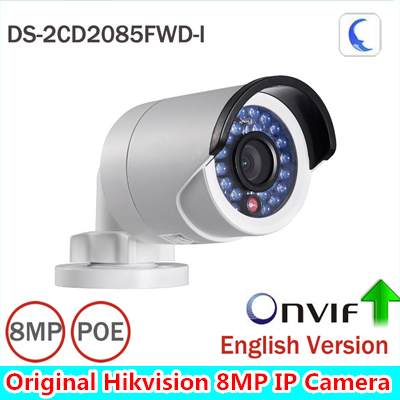 HIK 8mp CCTV Camera Updateable DS-2CD2085FWD-I IP Camera High Resoultion WDR POE Bullet CCTV Camera With SD Card Slot hik ds 2de7220iw ae original english version 2mp ptz ip camera cctv camera security camera surveillance poe onvif p2p hik