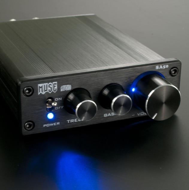 ФОТО MUSE SA50 LM1036 TDA7498L 68W+68w mini home Digital audio Amplifier TDA7489 Power amplifier board circuit and power adapter