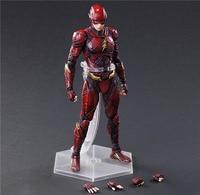 PLAY ARTS DC Justice League Flash Super Hero 25cm BJD Action Figure Model Toys