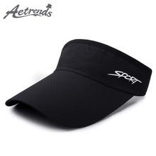 [AETRENDS] Summer Men Women Sport Visors Quick Dry Outdoor Travel Caps Empty Top Visor Hat Z-6504