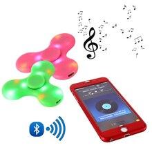 Спиннер-Спиннер светодиодный Bluetooth динамик EDC ABS подшипник Bluetooth подключение сделать музыку для аутизма СДВГ тревоги стресс