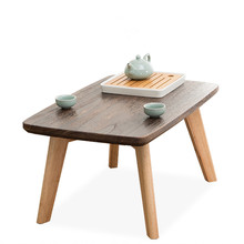 Nordic style Bay windeow small coffee table simple solid wood window balcony long desk Japanese-style mini