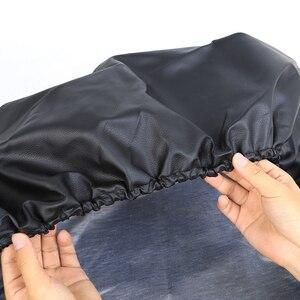 Image 3 - Weiche PVC Leder Ersatz Reifen Abdeckung Wasserdichte Finger Typ RV Rad Fall für Jeep LAND ROVER SUV Reifen Auto außen Zubehör