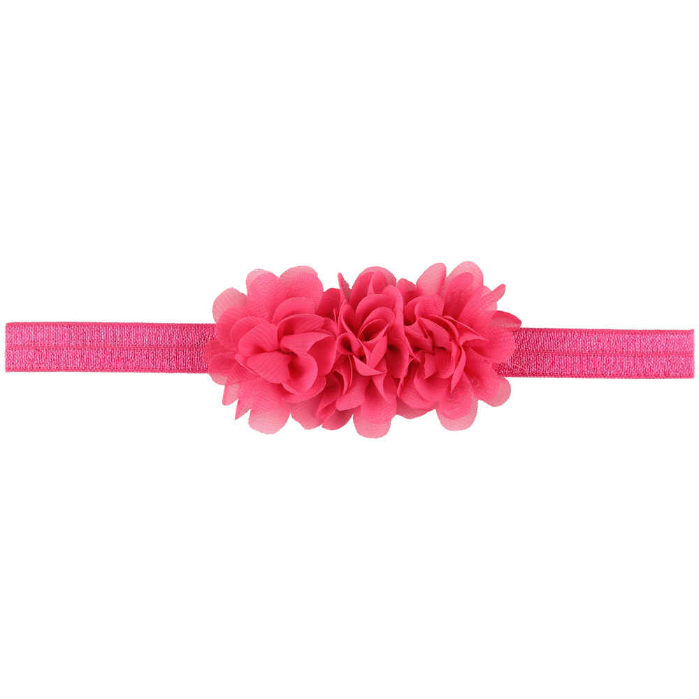 Chiffon flor bebé niña diadema accesorios para el cabello infantil lazo sombrero recién nacido tiara diadema regalo niños cinta vendaje