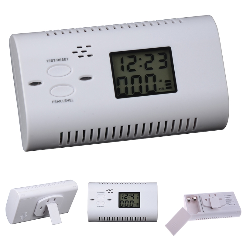 Carbon Monoxide Alarm Smart Human Voice Prompt LCD Display Gas Detector Sensor