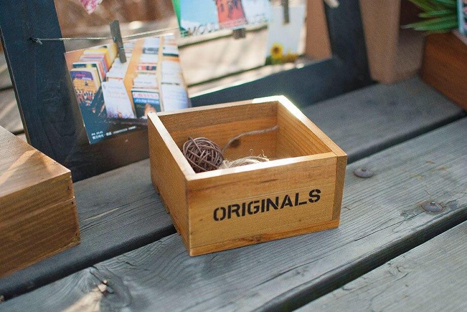 Zakka Wooden Box Sewing Storage Box small boxes craft and ...
