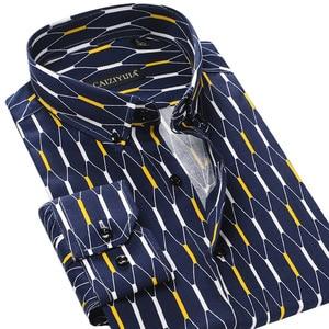 Image 3 - Argyle camisas casuales a cuadros para hombre, camisa de vestir de manga larga con cuello abotonado, 100% algodón, de alta calidad
