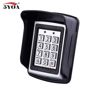 Image 5 - Teclado de Control de acceso Rfid de Metal a prueba de agua con 1000 usuarios lector de tarjetas de 125KHz teclado clave Fobs Sistema de Control de Acceso de puerta