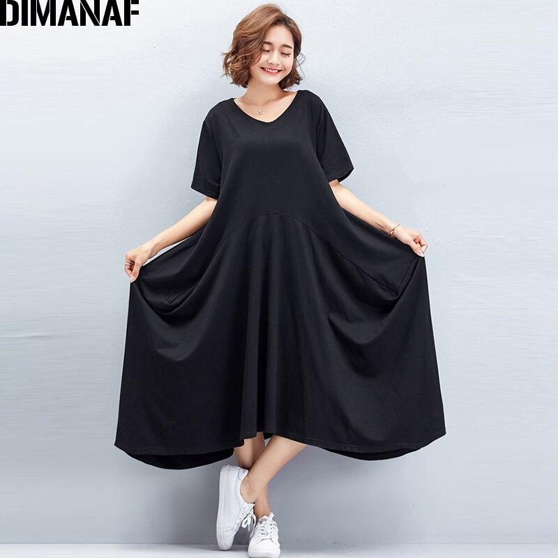 Women's Clothing Shop For Cheap Arcsinx Large Size Dresses For Women Summer Plus Size Dresses For Women 4xl 5xl 6xl Casual Cotton Ruffles Black Womens Dress