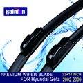 """Rainfun u-gancho tamanho: 22 """"+ 14"""" apto para hyundai getz (2002-2009) glace essuie brisas limpador lâmina de alta qualidade"""
