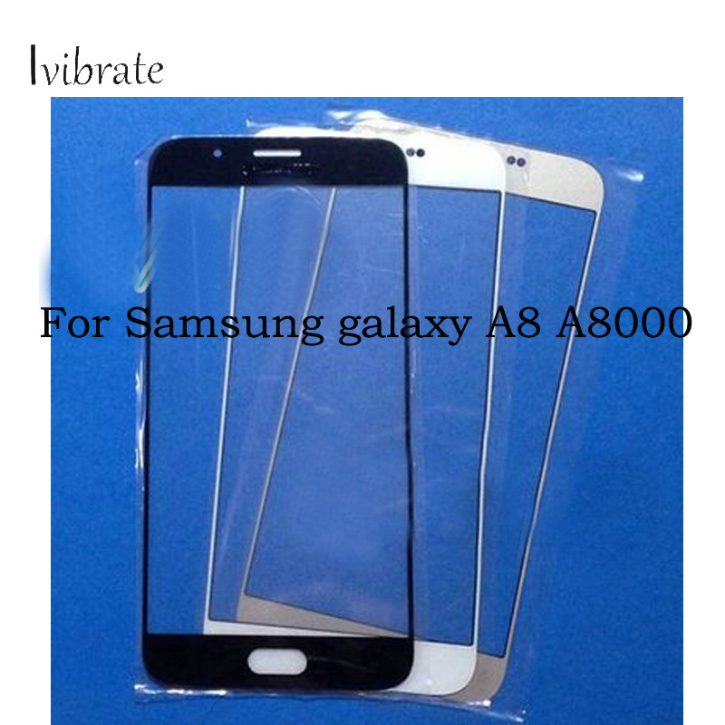 2pcs A+Quality For Samsung galaxy A8 A8000 Touch Screen A 8 Digitizer TouchScreen Glass panel Without Flex Cable