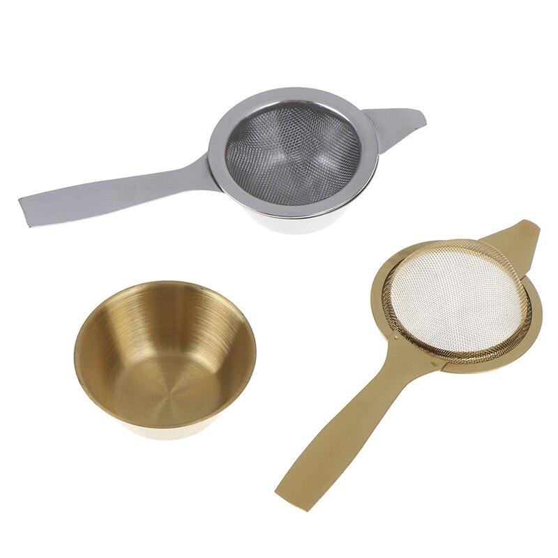 Mesh Tea Infuser Reusable Tea Strainer Teapot Stainless Steel Loose Tea Leaf Spice Filter Folding Handle Drinkware Kitchen Tools(China)
