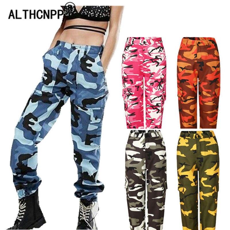 women camouflage pants streetwear casual harem pants hip hop camo pants sweatpants women. Black Bedroom Furniture Sets. Home Design Ideas