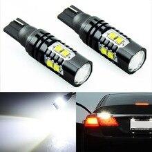 2x T10 194 W5W CREE чип Led белый 50 Вт с Len проектор Алюминиевый Чехол лампы DRL Автомобильный интерьер обратный источник светильник
