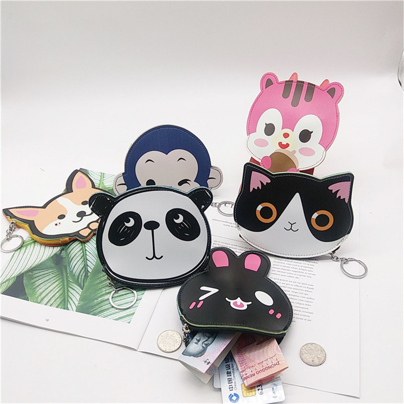 Want Go Cute Cartoon Child Coin Puses Kawaii Ainmal Women Coin Holders Pu Leather Small Bag Zipper Mini Change Wallet Purse Bag in Coin Purses from Luggage Bags