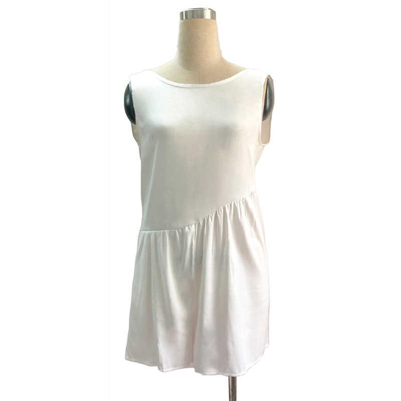 Пляжный костюм с открытой спиной Для женщин сексуальный короткий комбинезон без рукавов однотонный пляжная одежда Комбинезоны Бохо Для женщин s комбинезон больших размеров