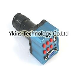 Mini cyfrowy mikroskop optyczny obiektyw kamera przemysłowa 5x 100x powiększenie z pilot zdalnego sterowania na podczerwień wyjście VGA kamery w Mikroskopy od Narzędzia na