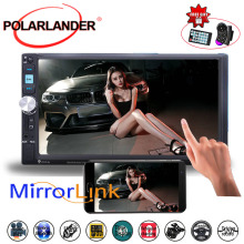 7 Inch MP5 Player Mirror Link Screen Stereo Car Radio FM USB TF Mirror For Android Phone 2DIN Touch Screen Bluetooth Rear Camera