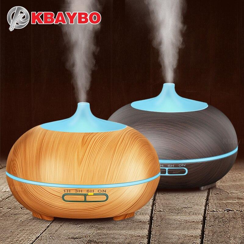 300 ml Ultrasonic Aroma Difusor Névoa Fria Umidificador Óleo Essencial de Grão de Madeira para Escritório Quarto Estudo Sala de Yoga Do Bebê Spa