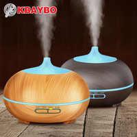 300 ml Grano De Madera Aceite Esencial Difusor Ultrasónico del Aroma Humidificador de Vapor Frío para la Oficina Sala de Estudio Dormitorio Bebé Spa Yoga