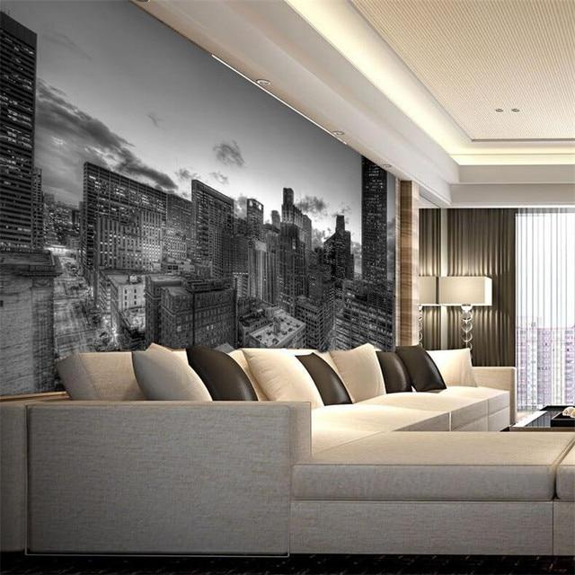 Murale carta da parati per soggiorno edifici industriali for Carta da parati per soggiorno classico