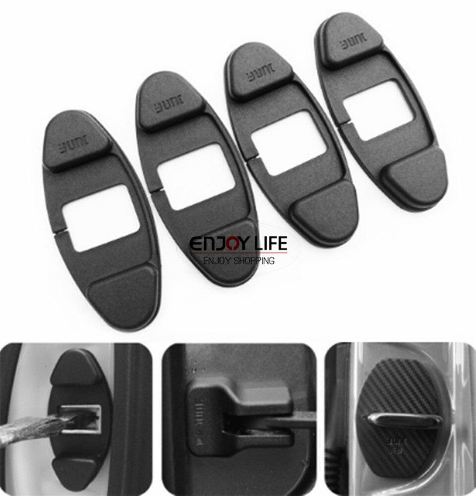 4pcs Door Lock Striker Cover Buckle Cap For Skoda Octavia A5 VW Passat B5 ABS