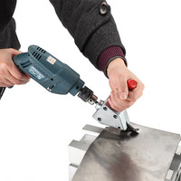 NEW Nibble Metal Cutting Sheet Nibbler Saw Cutter Tool Drill Attachment Free Cutting Tool Nibbler Sheet
