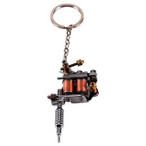 Image 5 - 1 מחשב נייד מיני קעקוע מכונת Keychain קעקוע כלים פאנק סגנון מפתח מחזיק כמו תליון קישוט עבור גברים & נשים מתנת מלאכות