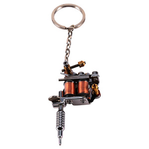 Image 5 - 1 PC Portable Mini Tattoo Machine Keychain Tattoo Tools Punk Style Key Holder As Pendant Ornament For Men & Women Gift Crafts