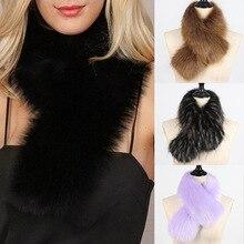 MIARA.L high quality faux fur fake  scarf collar article cap big raccoon muffler cape