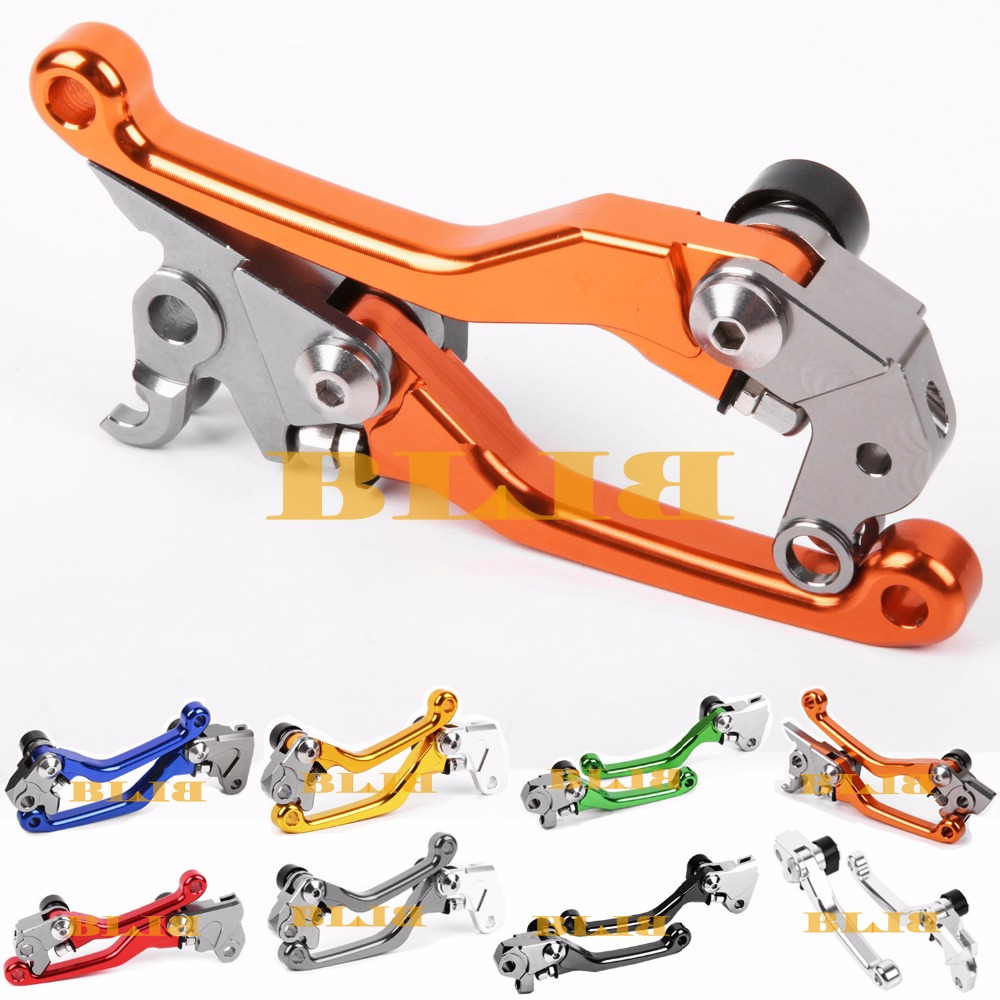 For KTM 250 SX XC-W XC-F XCF-W XC EXC EXC-F 300 EXC 350 EXC-F SIX DAYS 2014 2017 CNC Pivot Racing Dirt Bike Clutch Brake Levers orange cnc billet factory oil filter cover for ktm sx exc xc f xcf w 250 400 450 520 525 540 950 990