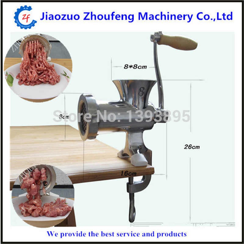 Meat grinder high quality stainless steel manual mini meat grinder mincer table hand crank tool for kitchen 8# ZF cast iron manual meat grinder crusher potable food chopper cutter table hand crank tool household kitchen accessories tool