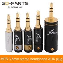 MPS 3,5 мм стерео наушники AUX разъем TRS Hifi аудио DIY разъем для наушников аудио чистый латунный Позолоченный разъем для наушников кабель