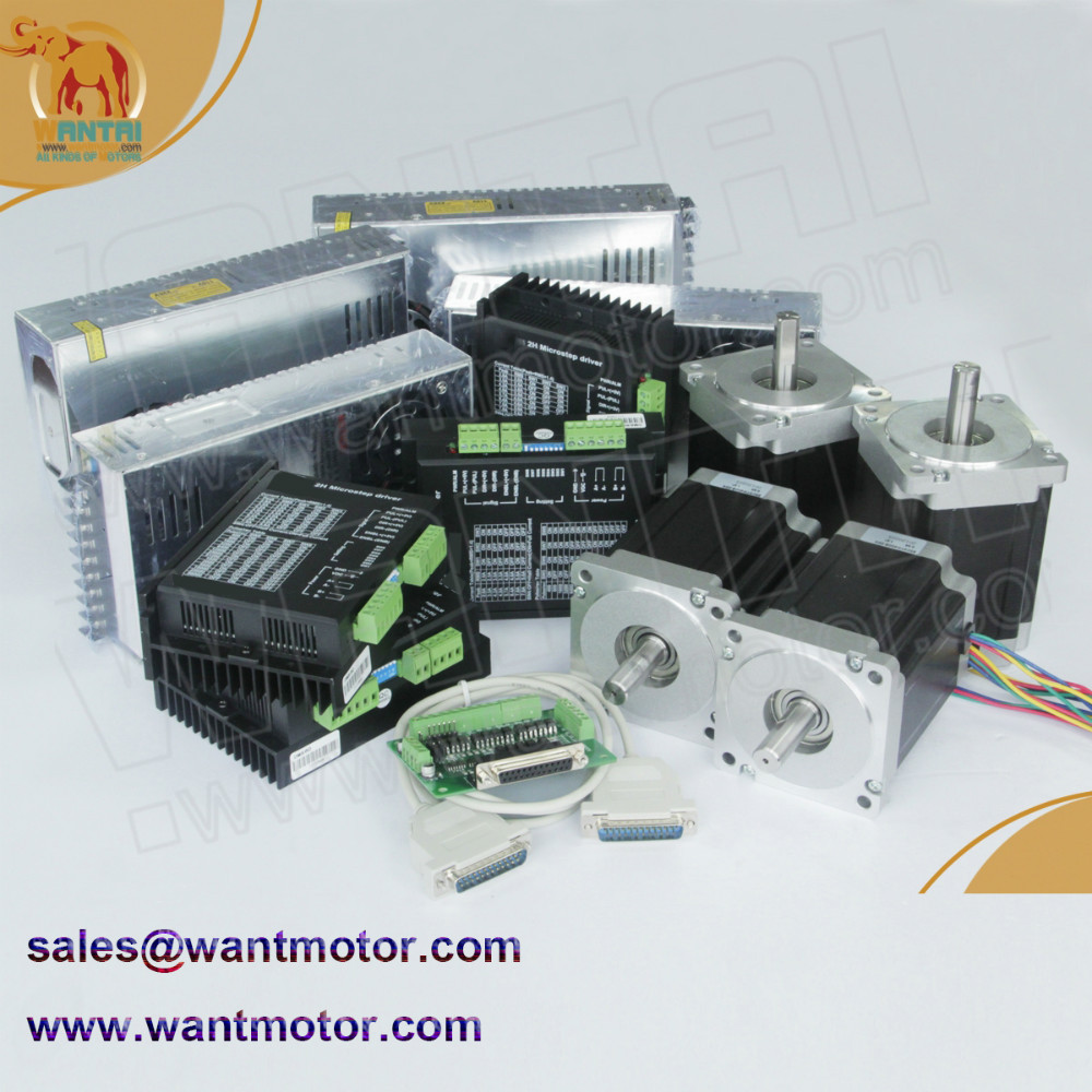 (Germany Ship & Free to Germany )4 Axis Nema 34 Wantai Stepper Motor 1600oz-in,3.5A,CNC Mill Cut Engraving, Laser, 3D Printer german ship 5axis wantai nema 34 cnc stepper motor 892oz in spindle