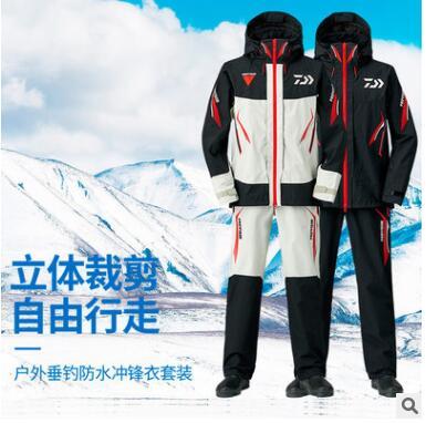 2019 dayiwa fishing clothes fishing pants breathable 10000mm waterproof fishing vest men outdoor one set jacket