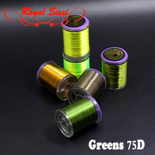 Royal Sissi hot 6 greenish colors finest 8 0 fly tying thread 75D highly waxed high