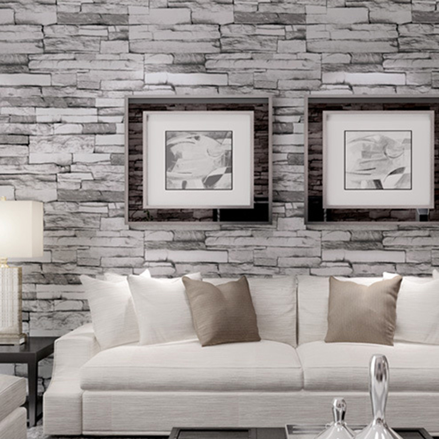 Aliexpresscom Buy M Fashion D Modern PVC Washable Stone - 3d brick wallpaper living room