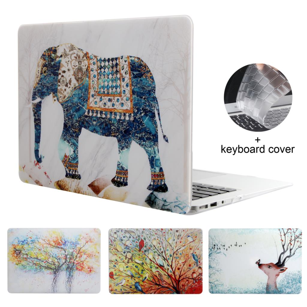 Colorful Laptop Case For Apple Macbook Air Pro Retina 11 12 13 15 For Mac 13.3 A1932 With Touch Bar +Keyboard Cover
